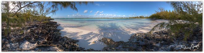 Eleuthera Bahamas Virtual Reality Photo - Winding Bay Beach Northeast - North of Rock Sound